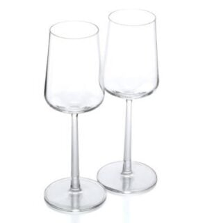 Scandinavian wine glasses looking simple and elegant.