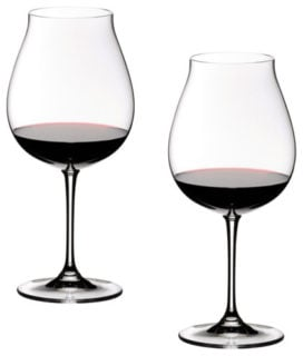 Pinot Noir wine glasses looking sleek and fine.