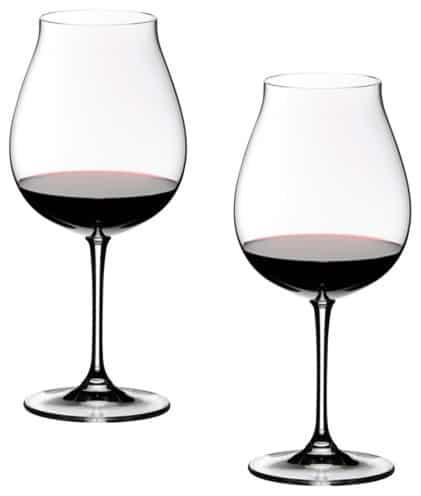 Pinot Noir wine glasses looking sleek and fine.