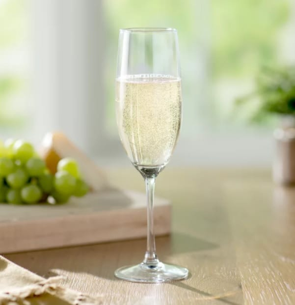 Slim and small wine glass for sparkling wine or champagne.