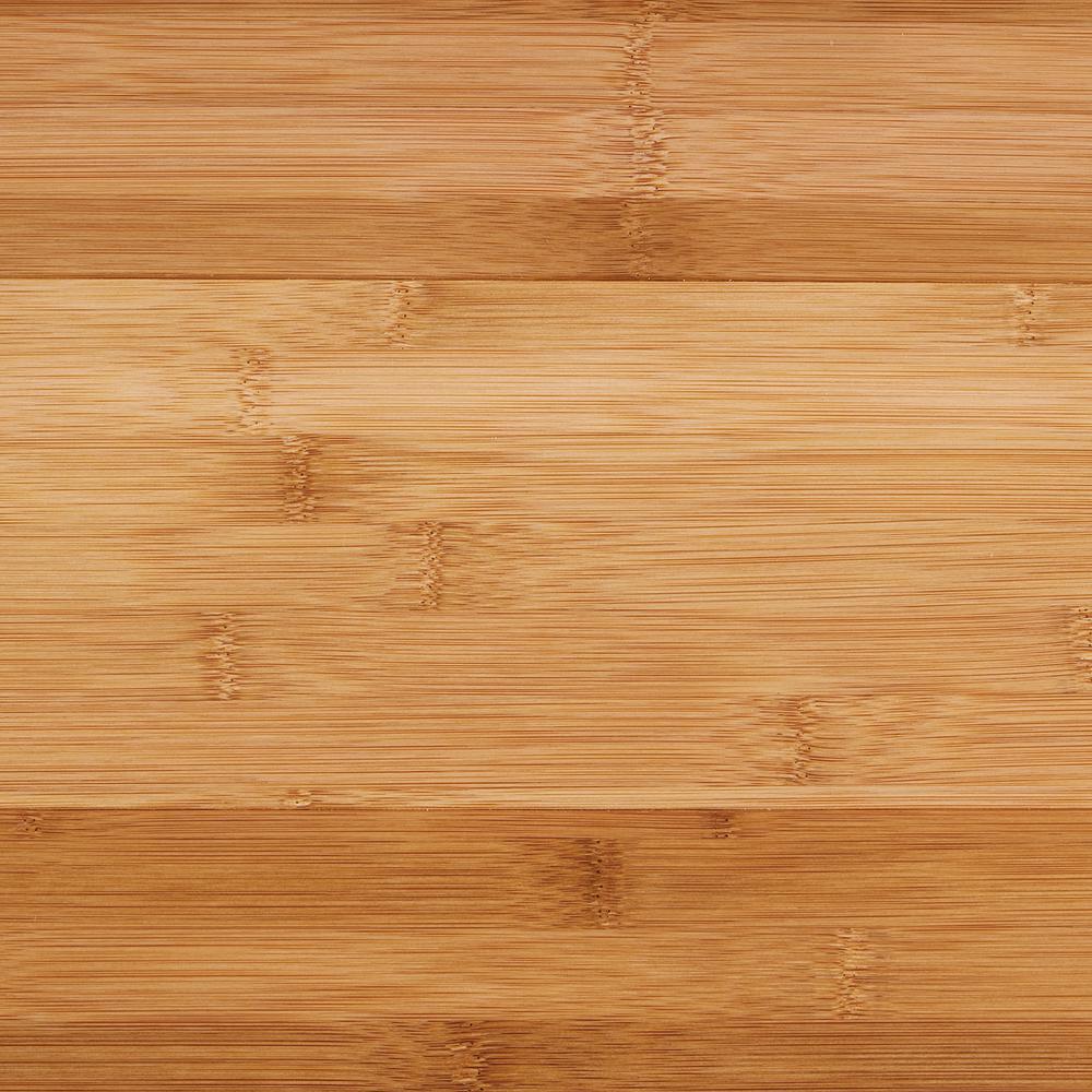 Smooth and lightweight horizontal, bamboo flooring.