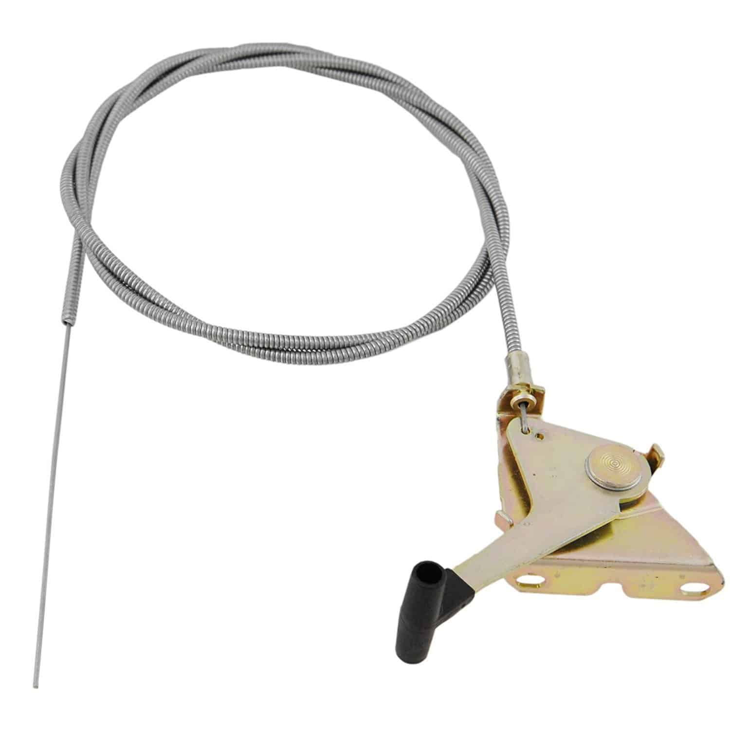 Throttle control cable for lawn mowers.