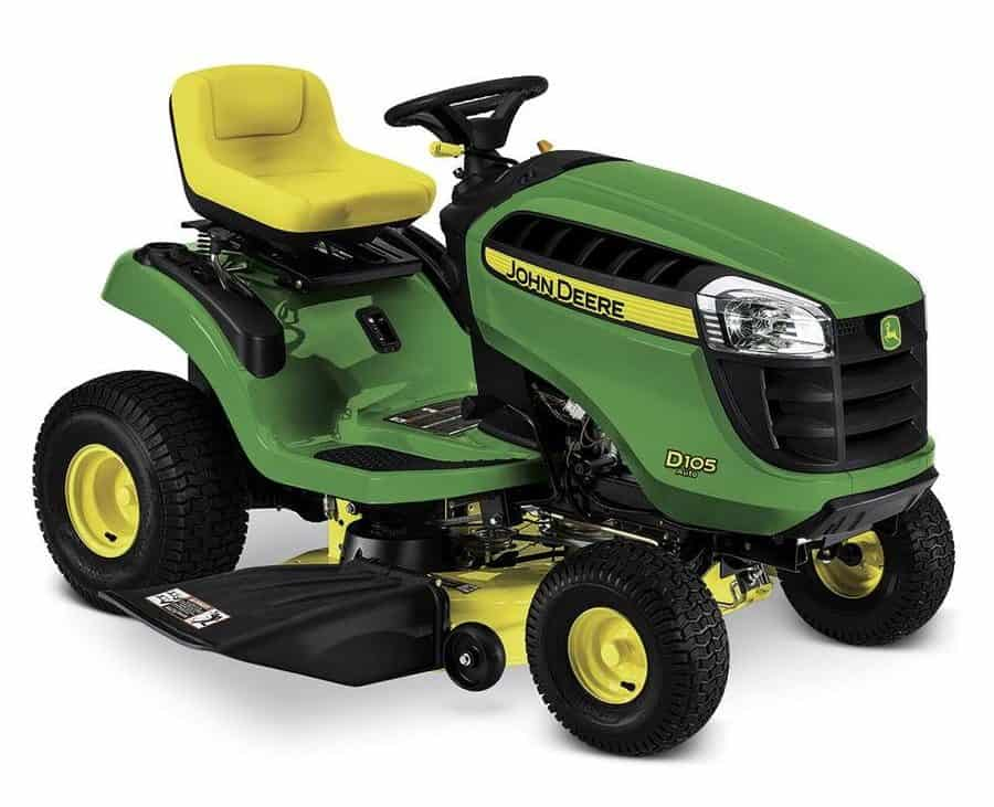 Automatic riding lawn mower with heat resistant seat and is adjustable.