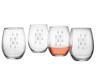 Southwestern bar glasses with minimal designs.