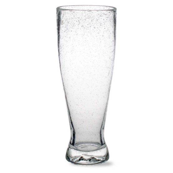 Pilsner type with a solid glass construction.