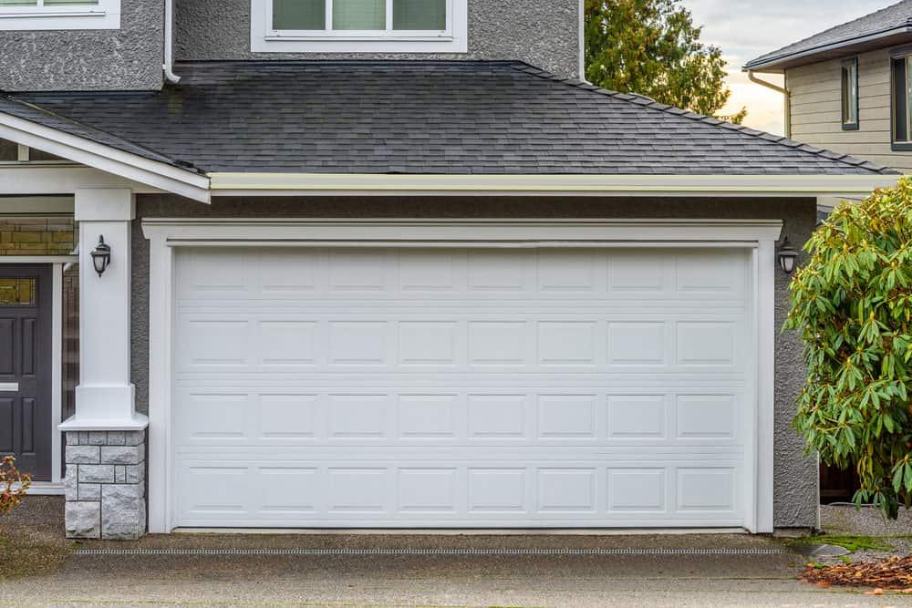 Traditional style panel garage door