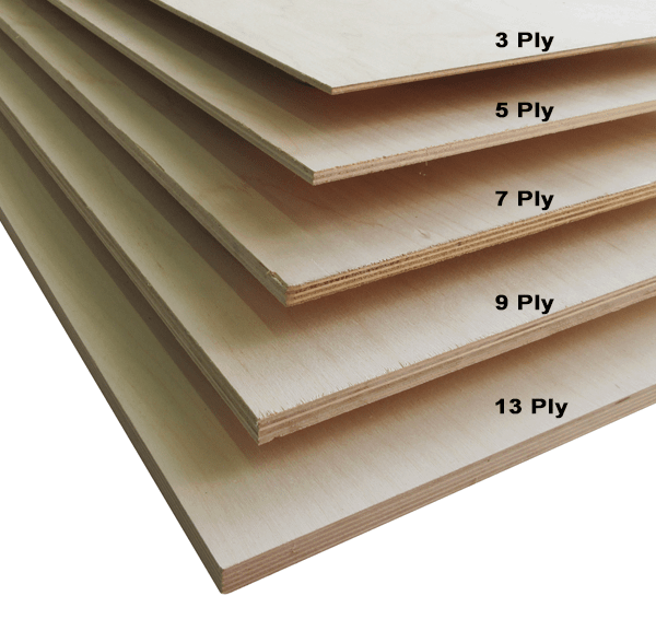 High density baltic birch plywood, 3 ply.