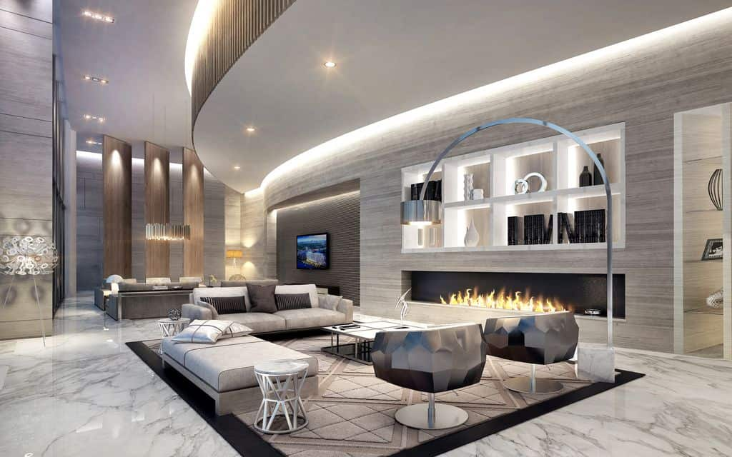 70 Stylish Modern Living Room Ideas (Photos)