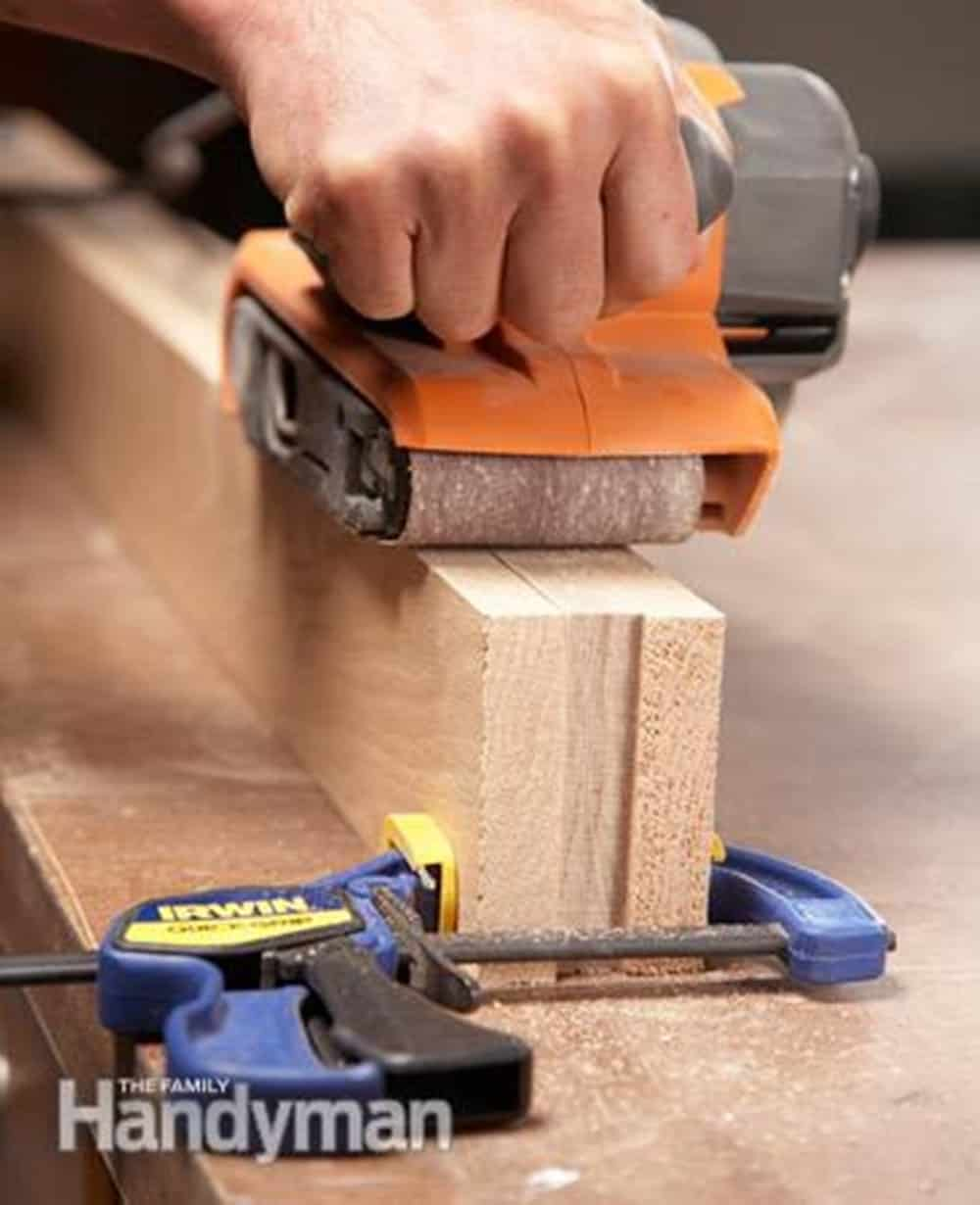 Tips and tricks on how to sand wood faster.
