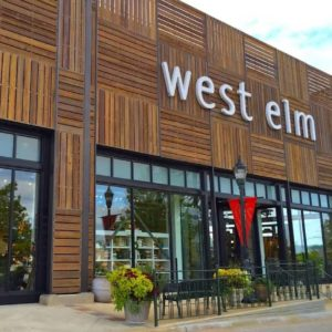 Exterior of a large West Elm branch.