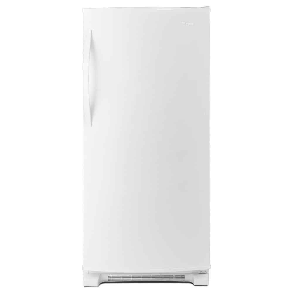 White refrigerator without freezer.