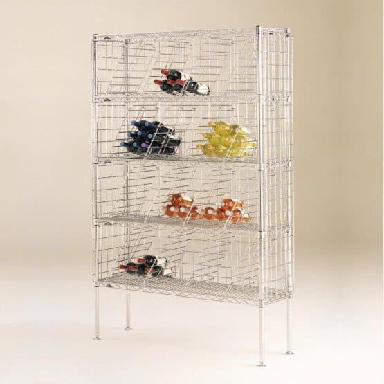 Wine rack made of steel.
