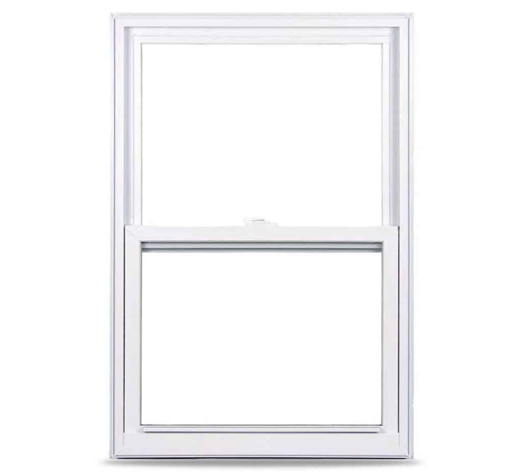 Easy-to-clean and low-maintenance white, vinyl window.
