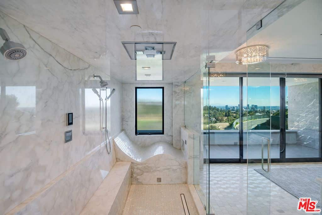 Massive master bathroom