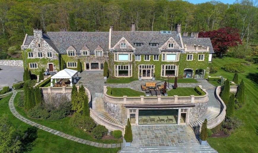 Old stone mega mansion castle with 34,000 sq. ft. in Millbrook, NY