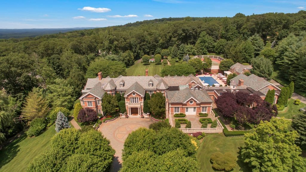 35,000 sq. ft. New Jersey mega mansion on a mountain