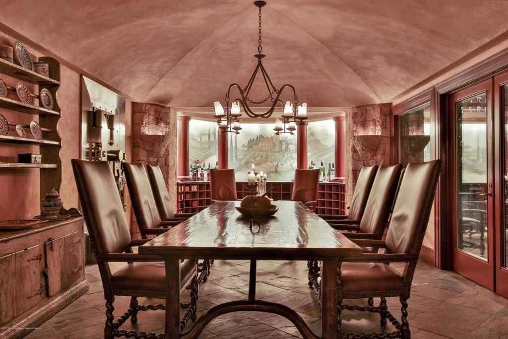 Wine cellar wine tasting room