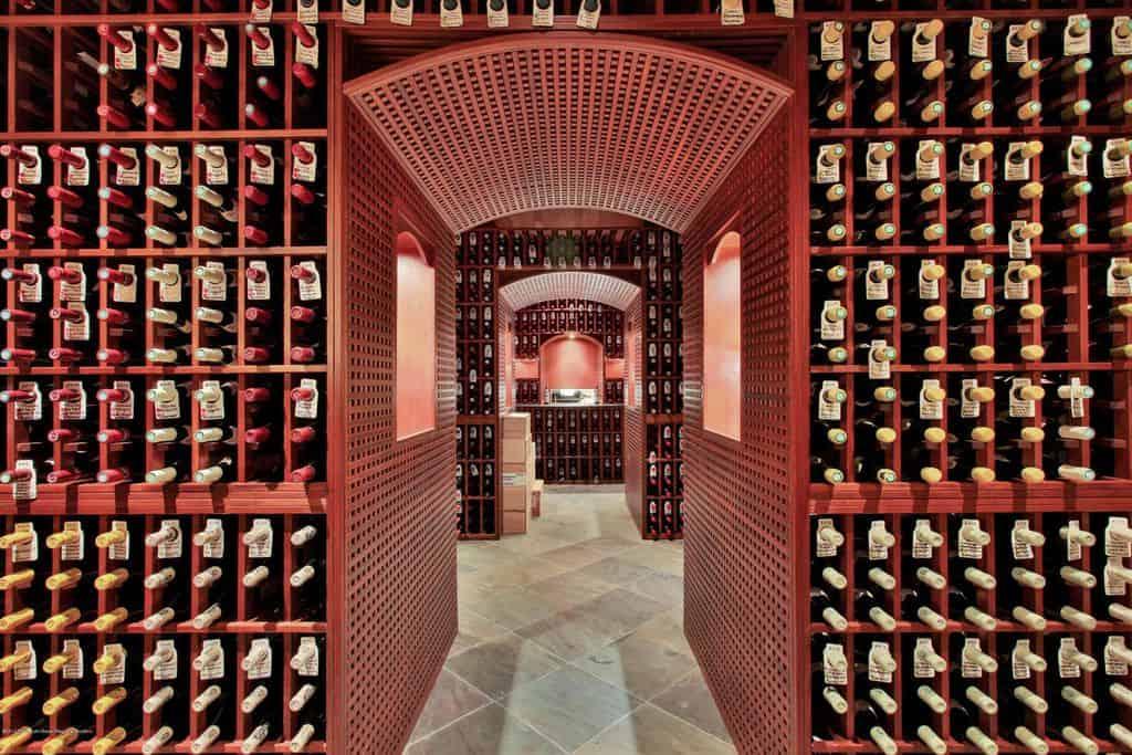 Massive wine cellar in private residence.