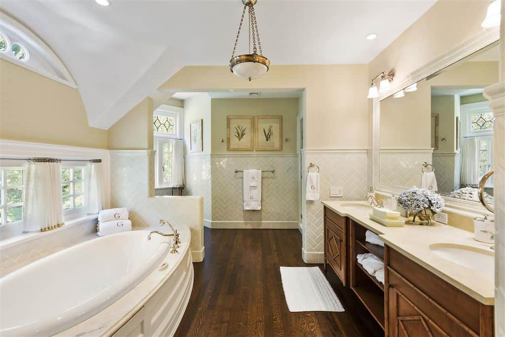 Master bathroom with tub.