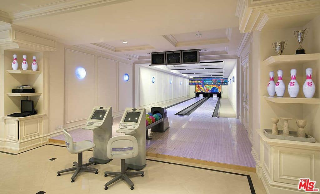 Luxury home with 2-lane bowling alley