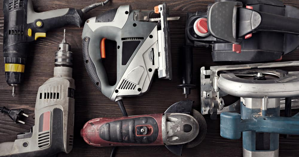 Collection of power tools