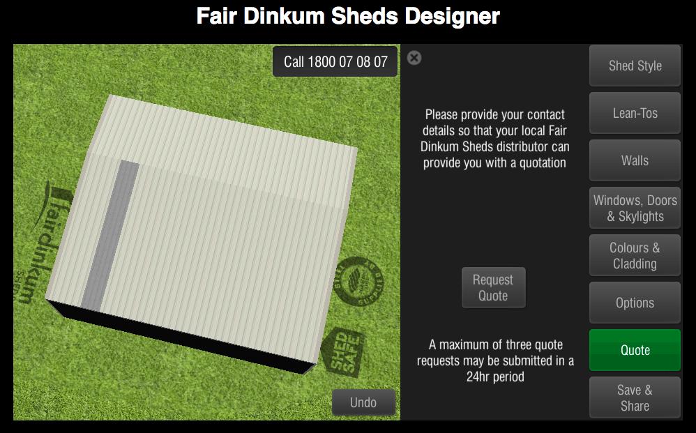 Fair Dinkum Sheds Designer Quote