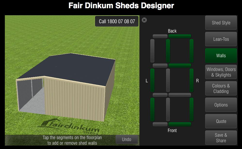 Fair Dinkum Sheds Designer Walls