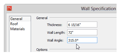 Home Designer Suite Wall Angle Field