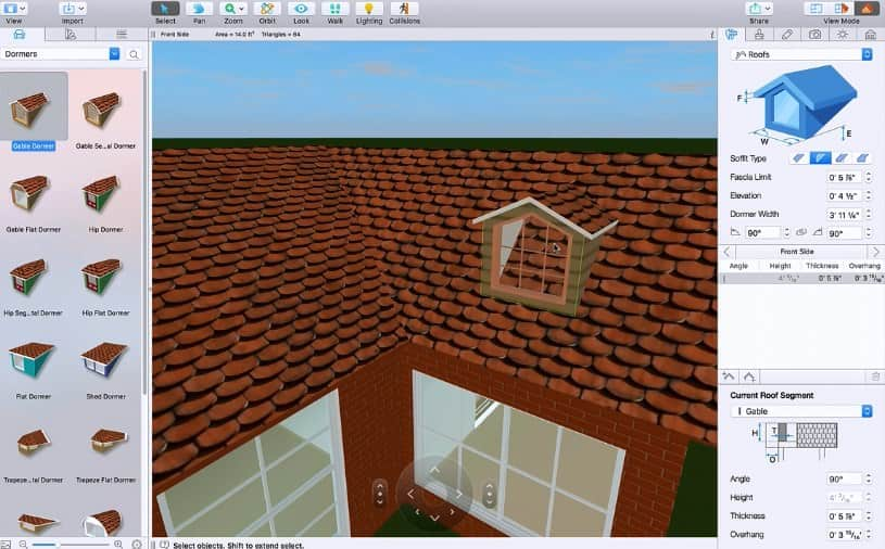 Live Home 3D Working with Dormers