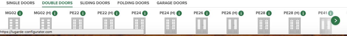 Lugarde 3D-configurator Doors