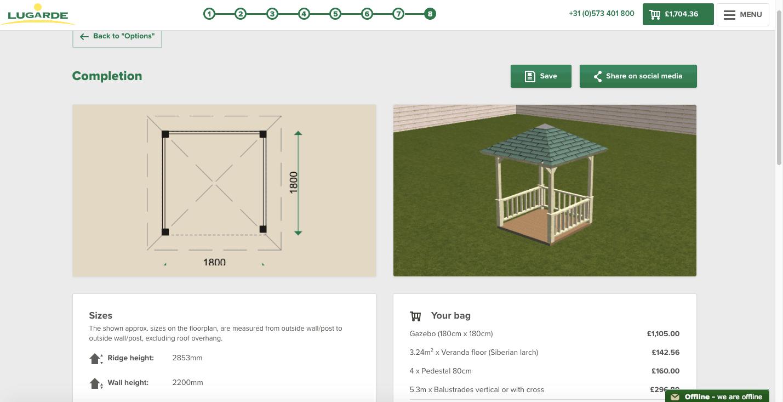 Lugarde 3D-configurator Preview