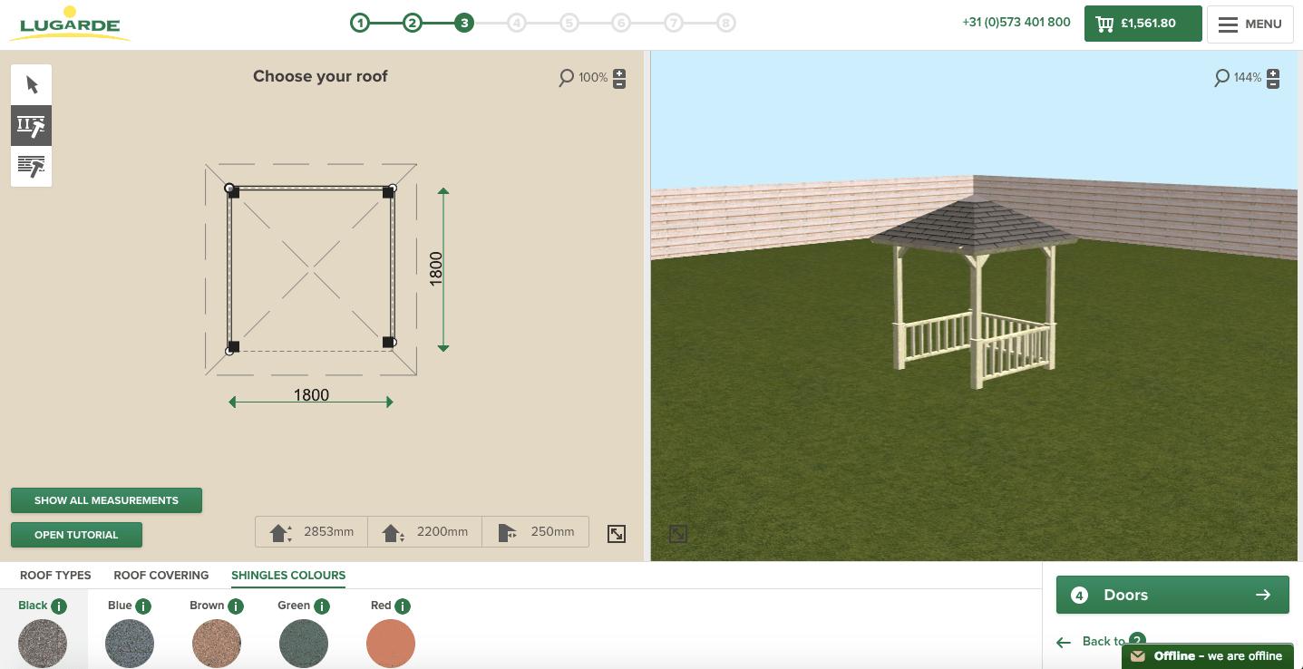 Lugarde 3D-configurator Shingles Colours