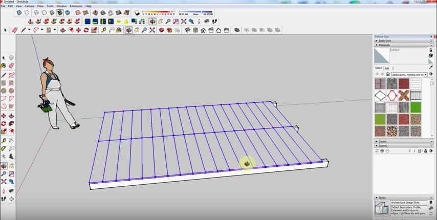 SketchUp Floorboards