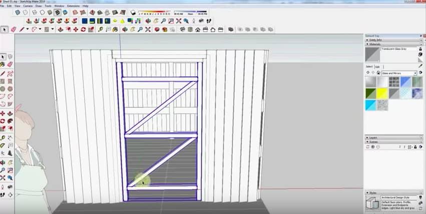 SketchUp Step 11: Door