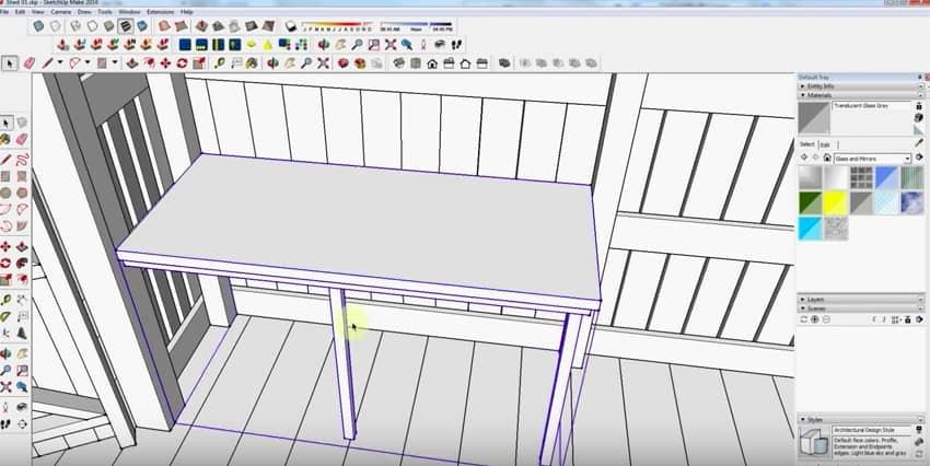 SketchUp Step 14: Table