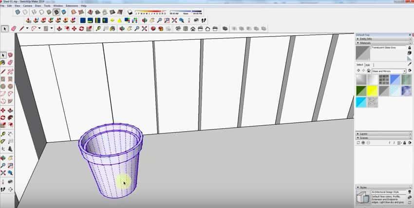 SketchUp Step 16: Flower Pots