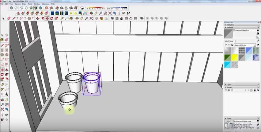 SketchUp Step 17: Flower Pots