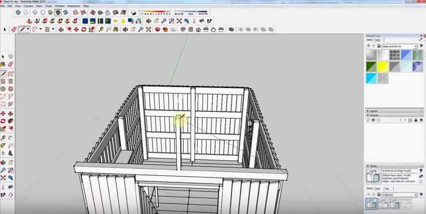 SketchUp Step 18: Rafter Framing