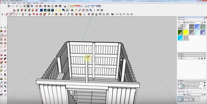 SketchUp Step 18: Rafter Framing