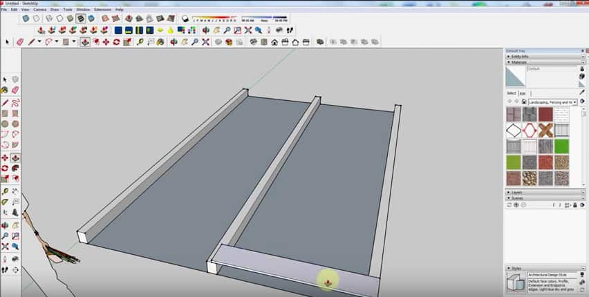 SketchUp Step 2: Floorboards