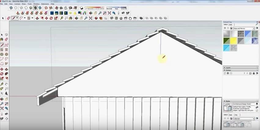 SketchUp Step 27: Rafter Framing