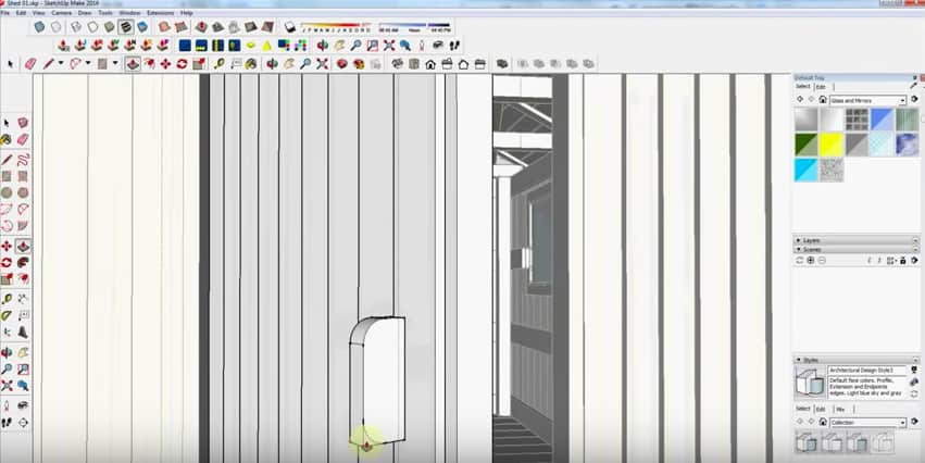 SketchUp Door Detail