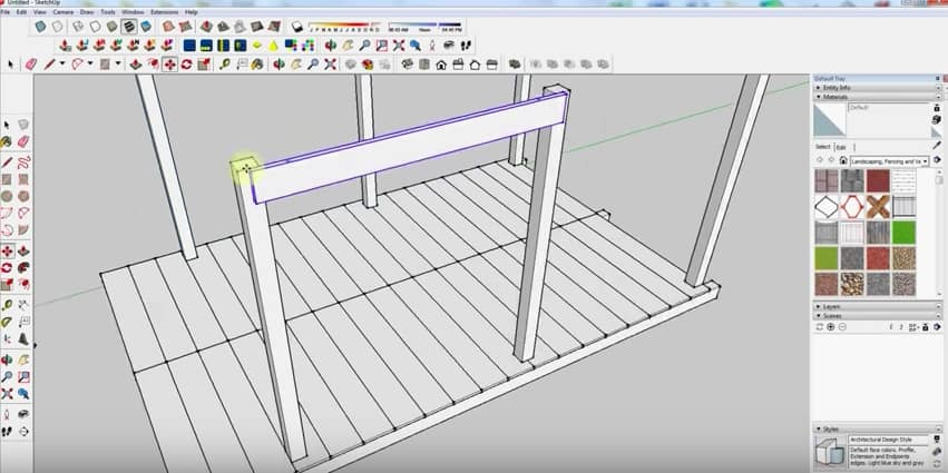 SketchUp Step 4: Wall Framing