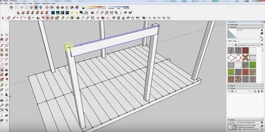 SketchUp Step 4: Wall Framing
