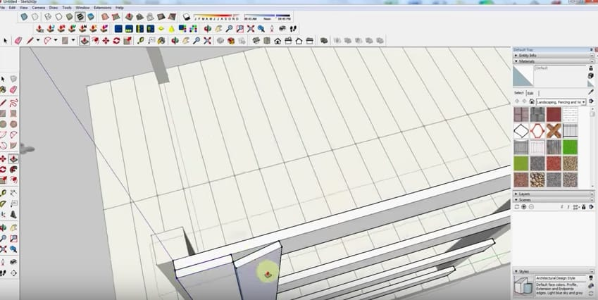 SketchUp Step 5: Wall Framing