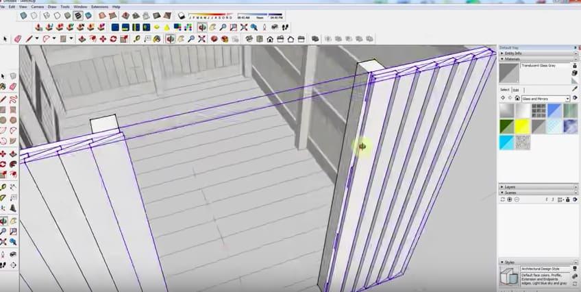 SketchUp Step 10: Door