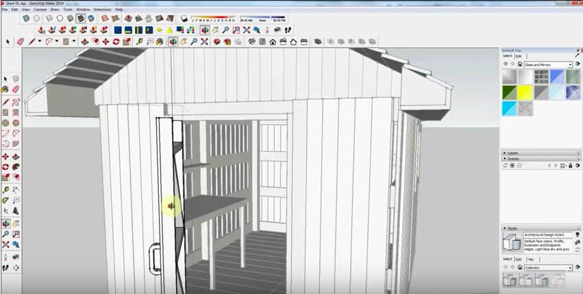 SketchUp Door Handle