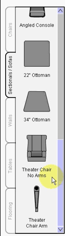 Room Builder Sectionals/Sofas