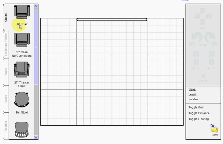 Room Builder User Interface
