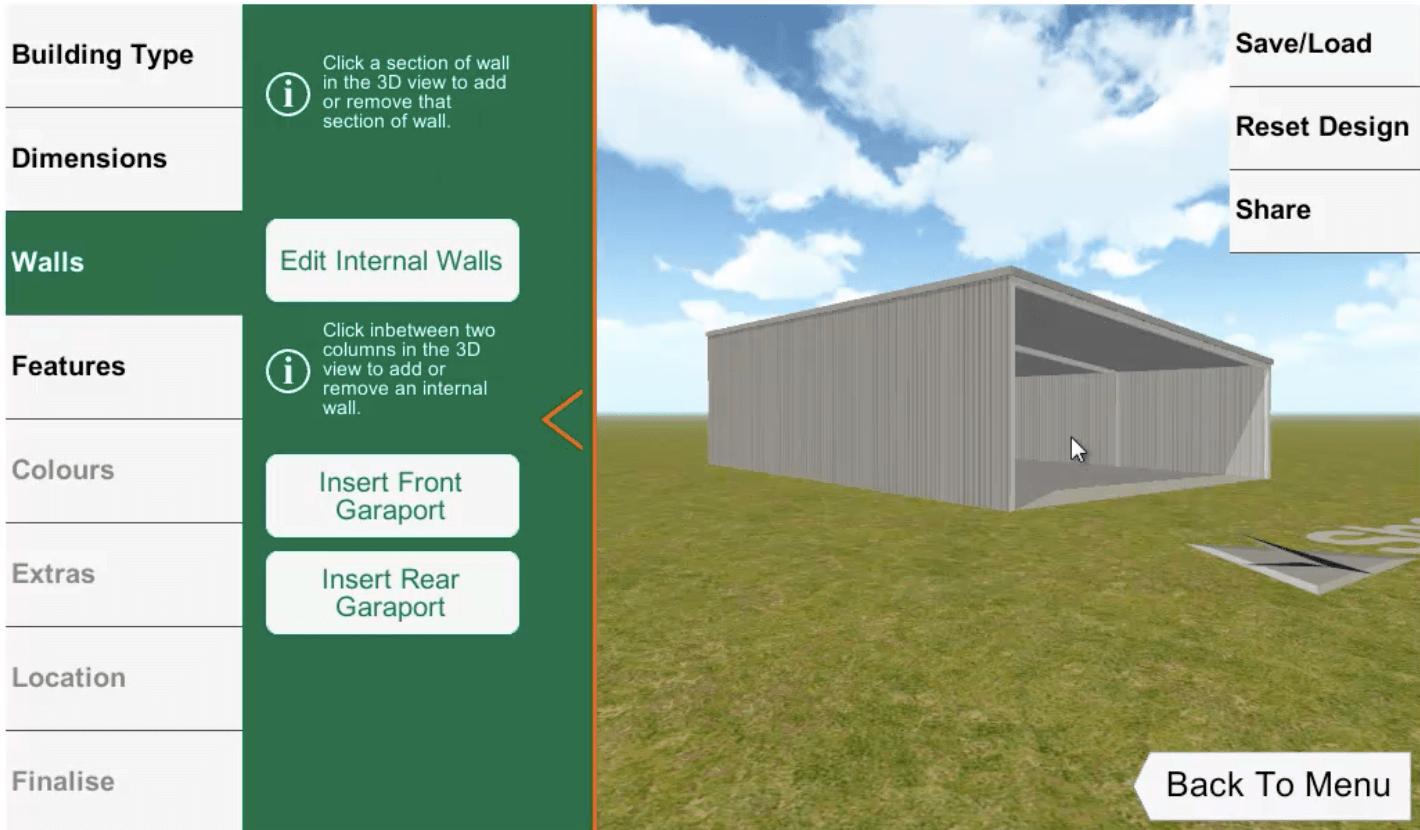 ShedBoss App External Walls